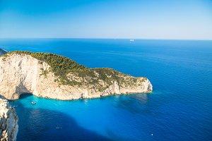 Famous Navajio beach on Zakynthos, Greece.