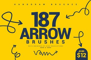 187 Pointing Arrow Brushes