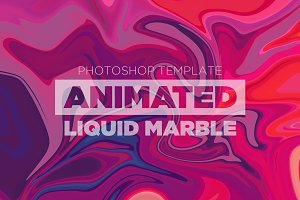 Animated Liquid Marble Backgrounds