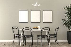 Kitchen blank picture frames