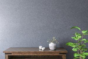 Blank wall interior
