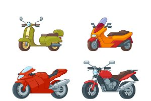 Colorful Motorcycles Collection
