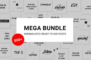 800+ Social Media Posts - Bundle