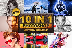 10 in 1 Photoshop Action Bundle 2