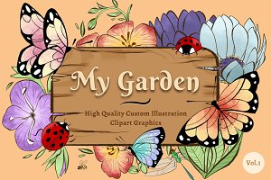 My Garden Illustration Clipart Vol.1
