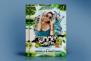 Summer Party PSD template