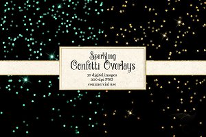Sparkling Confetti Overlay Clipart