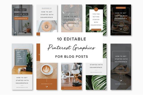 10 Pinterest Graphics for Blog Post…