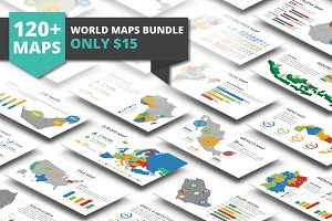 World Maps Bundle Powerpoint
