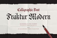 Cal Fraktur Modern font by Lazar Dimitrijevic in Blackletter Fonts