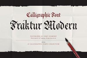 Cal Fraktur Modern font