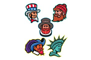 American and British Mascots Collect