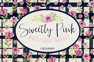 Sweetly Pink Watercolor Florals