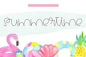 Summertime - A Cute Handwritten Font
