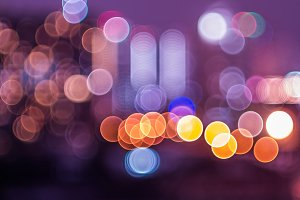 Bokeh and defocus of cityscape