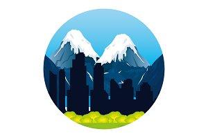 canadian landscape scene icon