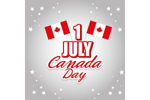 happy canada day celebration poster