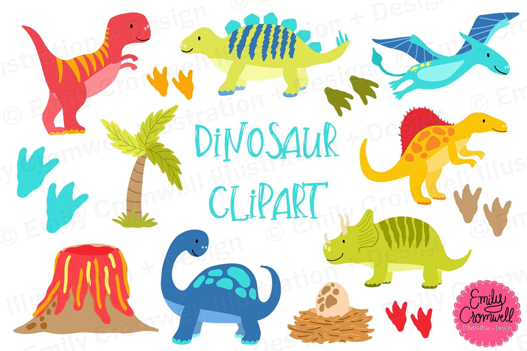 Dinosaur Clipart Pre Designed Photoshop Graphics Creative Market