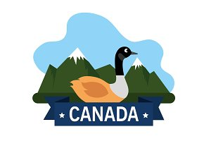 canadian duck scene icon