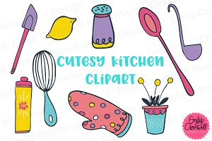 Cutesy Kitchen Clipart