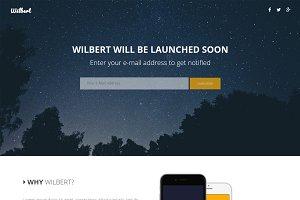 Wilbert - App Landing Page