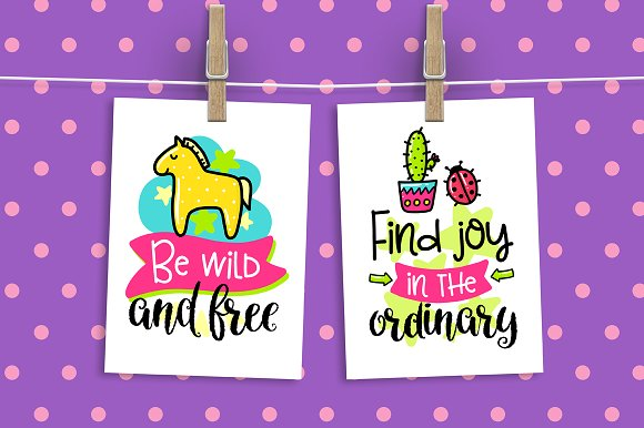30 Funny Color Cards with Quote in Card Templates - product preview 4