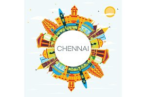 Chennai India Skyline