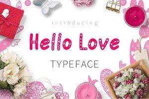 Hello Love - Valentine's Day Font