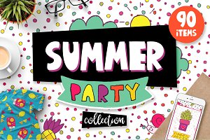 Summer Party - Clipart & Patterns