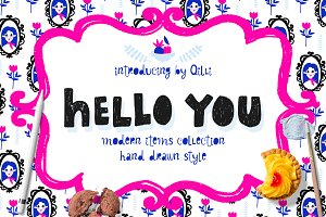 Hello You - Modern Hand Drawn Set