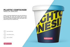 Plastic Food Container Mock-Up