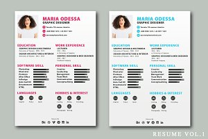 Resumes Design Templates