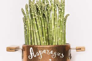 Asparagus recipes concept