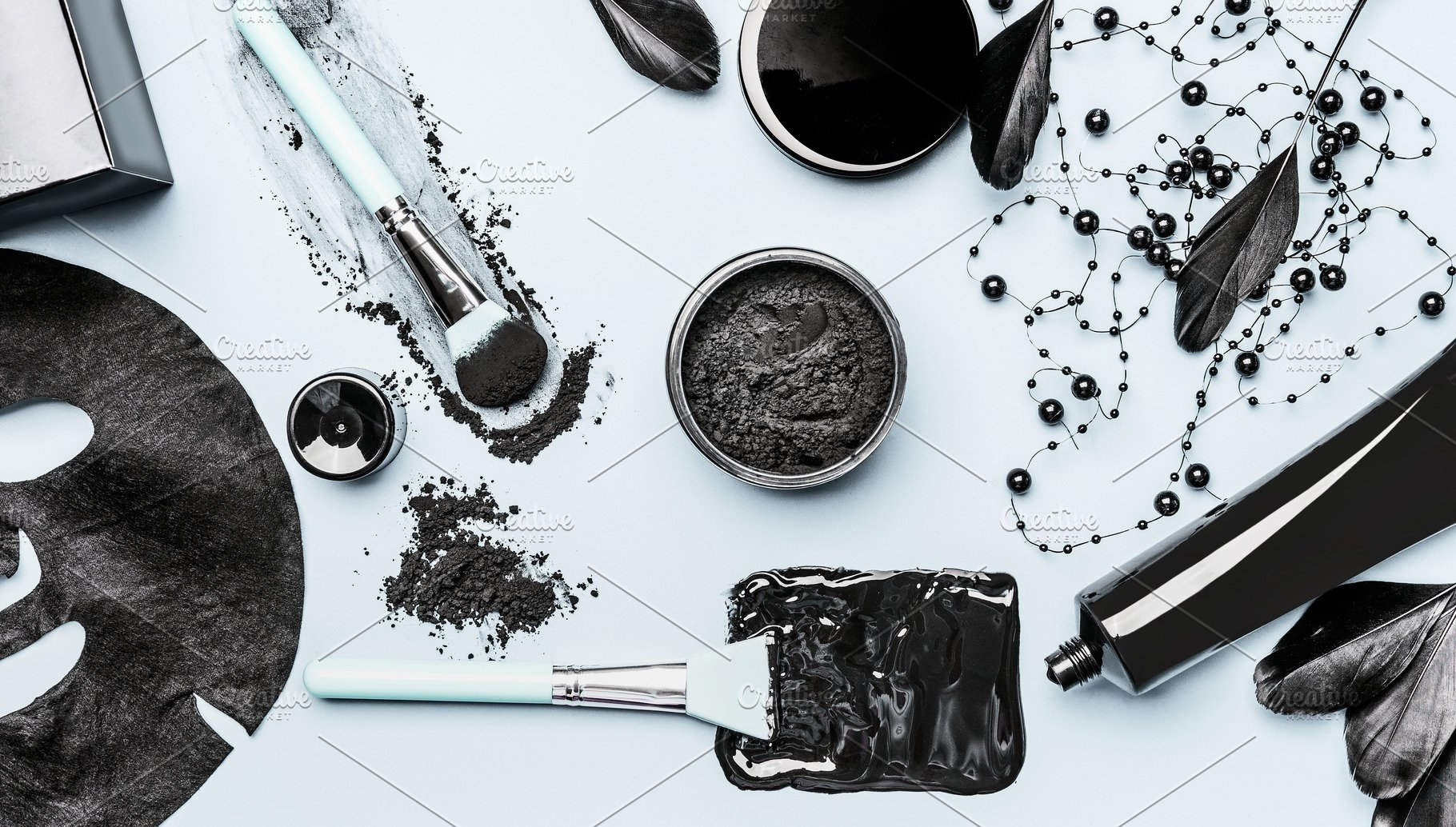 Activated Charcoal facial cosmetic