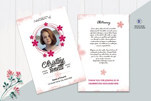 Funeral Prayer Card Template - V02