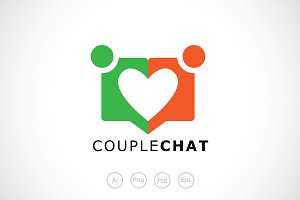 Couple Chat Logo Template