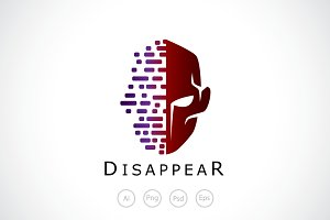 Disappear Face Mask Logo Template