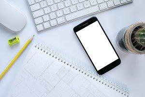 smartphone keyboard scratchbook