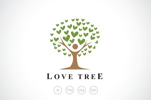 Lovely People Tree Logo Template