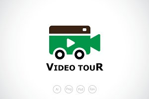 Car Video Camera Logo Template