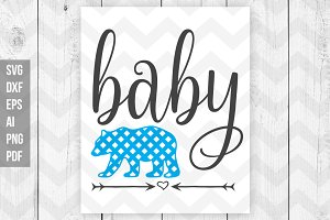 Baby Bear SVG DXF Print files