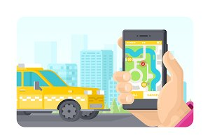 Online gps taxi ordering application