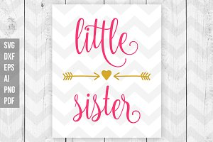 Little sister SVG/ DXF/ Print files