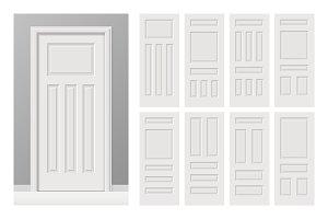 White cottage panelled doors set