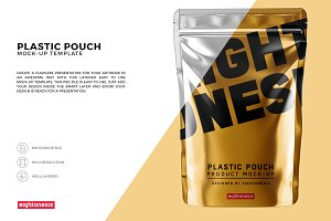 Glossy Plastic Pouch Mock-Up