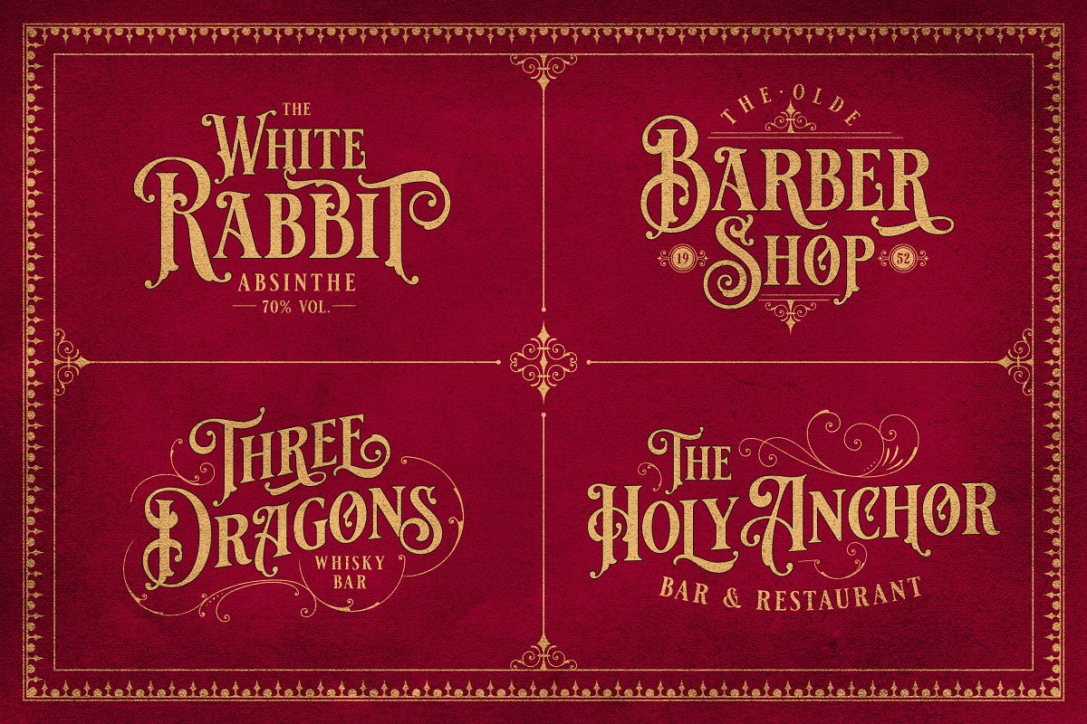 Vintage Font Bundle in Display Fonts - product preview 5