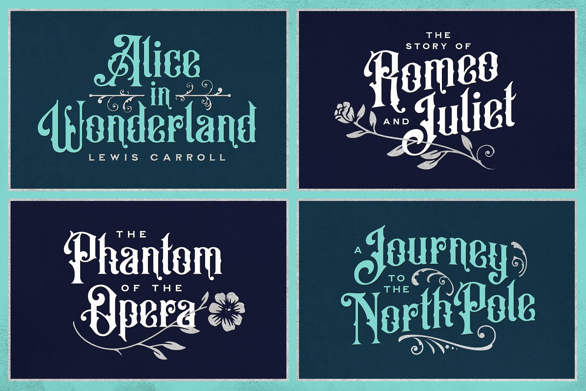 Vintage Font Bundle in Display Fonts - product preview 1