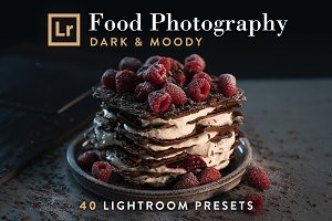 FOOD, Dark & Moody Lightroom Presets