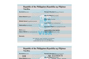 Philippines passport visa sticker