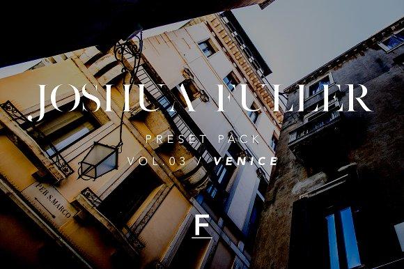 Joshua Fuller Preset Pack Vol.03